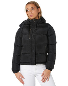 BLACK WOMENS CLOTHING RUSTY JACKETS - JKL0384BLK