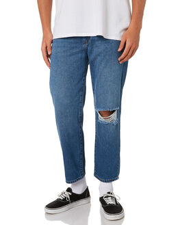 BLUE RIPPED KNEE MENS CLOTHING DR DENIM JEANS - 1630114-H72