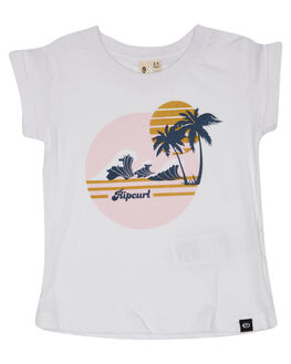 WHITE KIDS GIRLS RIP CURL TOPS - FTECD1-1000