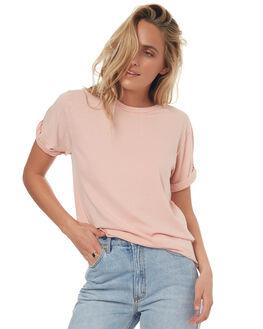 DUSTY BLUSH WOMENS CLOTHING BILLABONG TEES - 6571134PINK