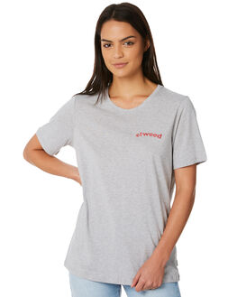 PALE GREY MARLE WOMENS CLOTHING ELWOOD TEES - W84101PGRY