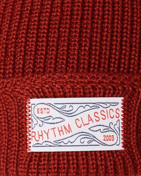 CLASSIC RED MENS ACCESSORIES RHYTHM HEADWEAR - ACC00M-BN01-RED