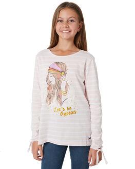 PINK WHITE STRIPE KIDS GIRLS EVES SISTER TEES - 9910072STR