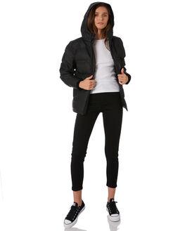 BLACK WOMENS CLOTHING HUFFER JACKETS - WDJA91S1301BLK
