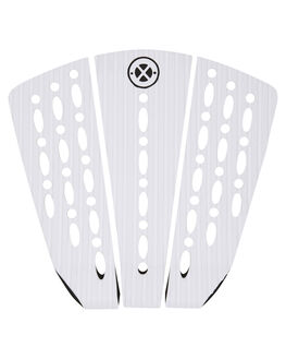 WHITE BOARDSPORTS SURF DREDED TAILPADS - DRPO-3PCWMATPWHI