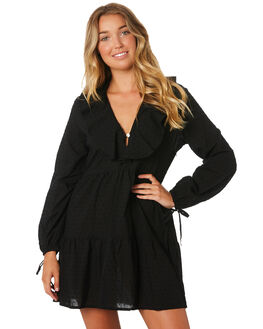 BLACK WOMENS CLOTHING LILYA DRESSES - CDD54-LAW19BLK