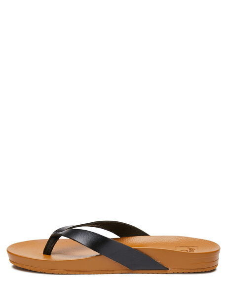 BLACK TAN WOMENS FOOTWEAR REEF THONGS - A3FDSBLN