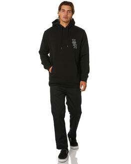 BLACK MENS CLOTHING HUFFER JUMPERS - MHD01S3012BLK