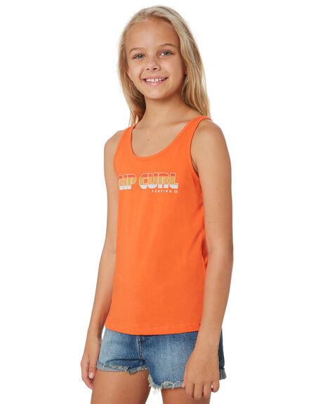 MANDARIN RED KIDS GIRLS RIP CURL TOPS - JTEEB14869