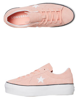 BLEACHED CORAL WOMENS FOOTWEAR CONVERSE SNEAKERS - 564382CBCRL
