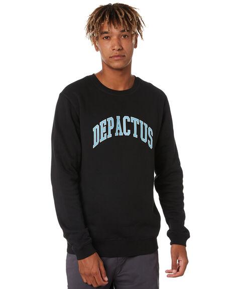 BLACK MENS CLOTHING DEPACTUS JUMPERS - D5194442BLK