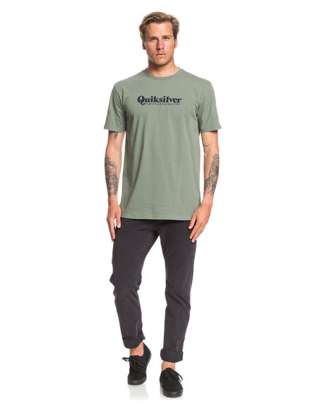 AGAVE GREEN MENS CLOTHING QUIKSILVER TEES - EQYZT05702-GZC0