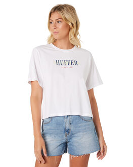 WHITE WOMENS CLOTHING HUFFER TEES - WTE91S42-231WHT