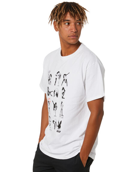 WHITE MENS CLOTHING HUF TEES - TS01466WHITE