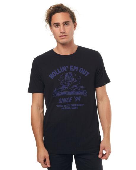 WASHED BLACK MENS CLOTHING GLOBE TEES - GB01710007WBLK