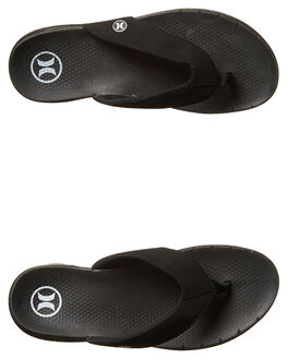 BLACK MENS FOOTWEAR HURLEY THONGS - MSA000022000A