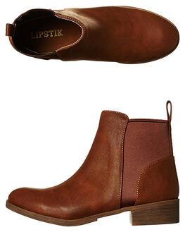 TAN WOMENS FOOTWEAR LIPSTIK BOOTS - LILATAN