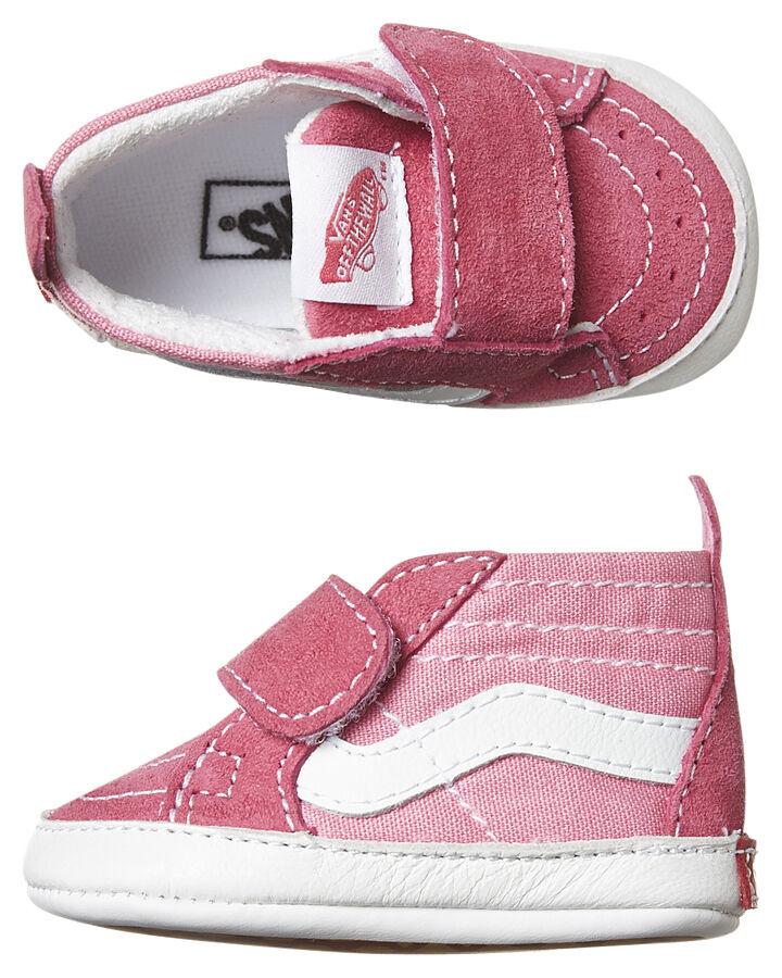 vans crib shoes pink