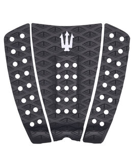 BLACK WHITE SURF HARDWARE FAR KING TAILPADS - 1209BLKWH