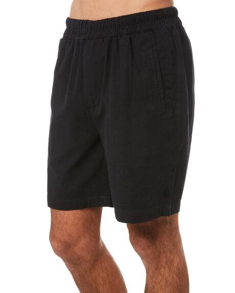 WASHED BLACK MENS CLOTHING SILENT THEORY SHORTS - 40X0059WBLK
