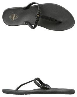 METALLIC BLACK WOMENS FOOTWEAR FREEWATERS FASHION SANDALS - WO-035BLK