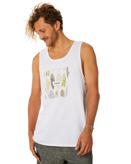 WHITE MENS CLOTHING HURLEY SINGLETS - AR4204100