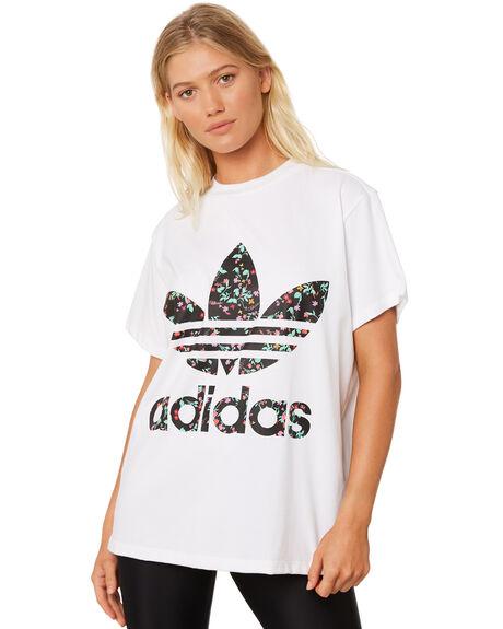 WHITE WOMENS CLOTHING ADIDAS TEES - DH4254001A