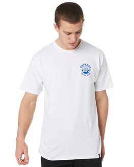 WHITE MENS CLOTHING HUF TEES - TS00719-WHT