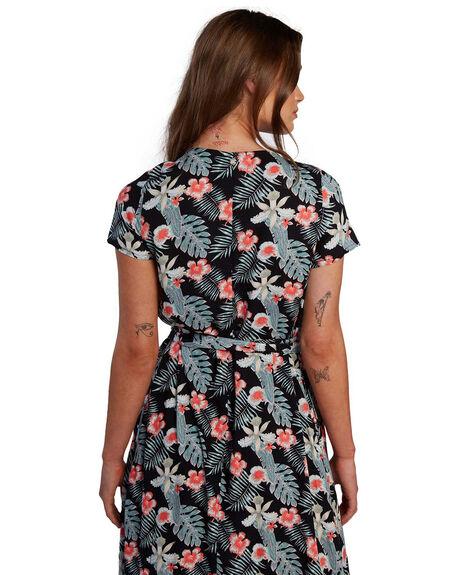 ANTHRACITE TROPICALA WOMENS CLOTHING ROXY DRESSES - ARJWD03304-KVJ8