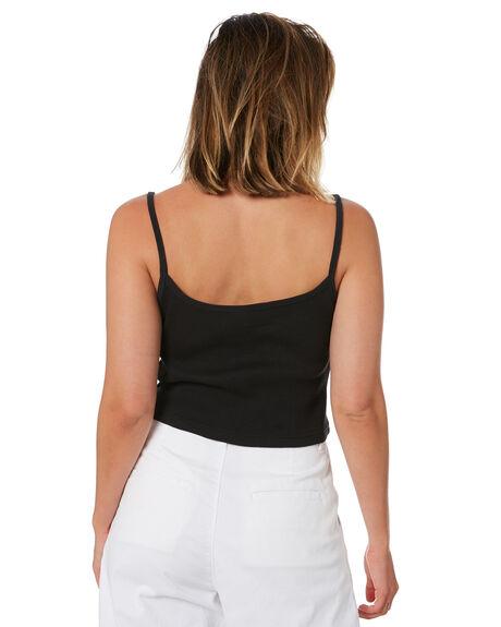 BLACK WOMENS CLOTHING STUSSY SINGLETS - ST102205BLK