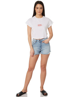 WHITE WOMENS CLOTHING SILENT THEORY TEES - 6022044WHT