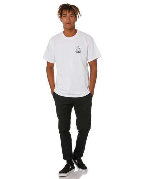 WHITE MENS CLOTHING HUF TEES - TS01462WHITE