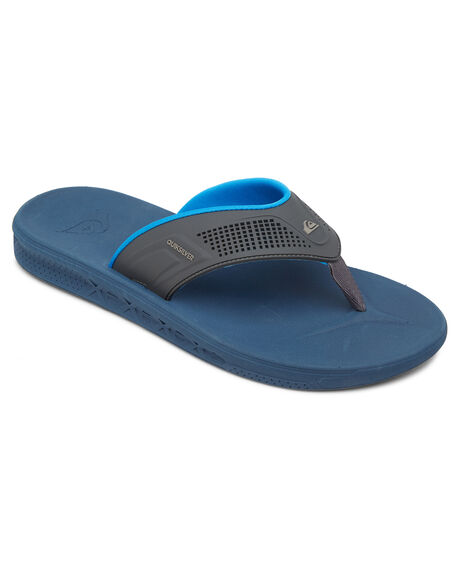 GREY BLUE BLUE MENS FOOTWEAR QUIKSILVER THONGS - AQYL100929-XSBB