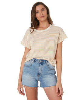 MUSTARD WOMENS CLOTHING RHYTHM TEES - JUL19W-PT03MUSTD
