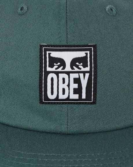 MALLARD GREEN MENS ACCESSORIES OBEY HEADWEAR - 100580252MGRN
