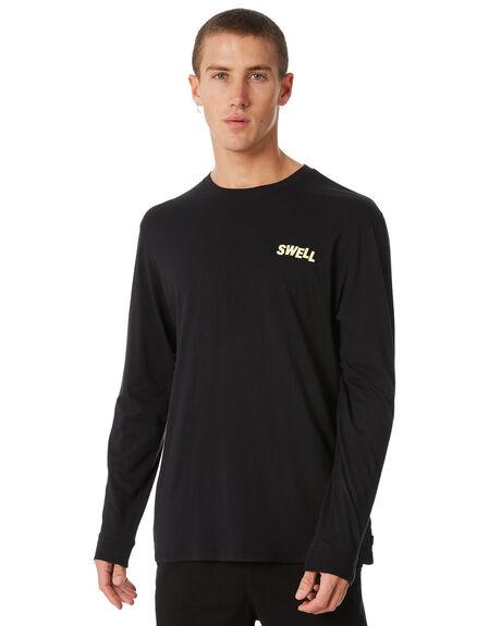 BLACK MENS CLOTHING SWELL TEES - S5184016BLACK