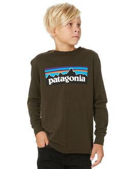 LOGWOOD BROWN KIDS BOYS PATAGONIA TOPS - 62229-PLLB