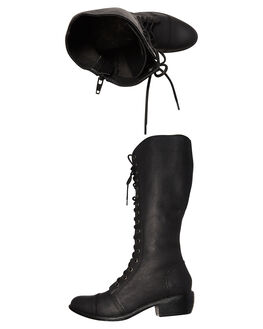 BLACK WOMENS FOOTWEAR ROC BOOTS AUSTRALIA BOOTS - TERRAINBLK