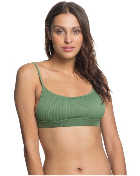 VINEYARD GREEN WOMENS SWIMWEAR ROXY BIKINI TOPS - ERJX304272-GNT0