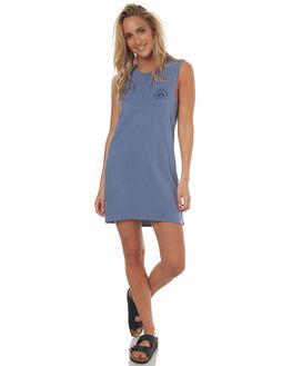 WASHED BLUE WOMENS CLOTHING VOLCOM DRESSES - B1341777WBLU