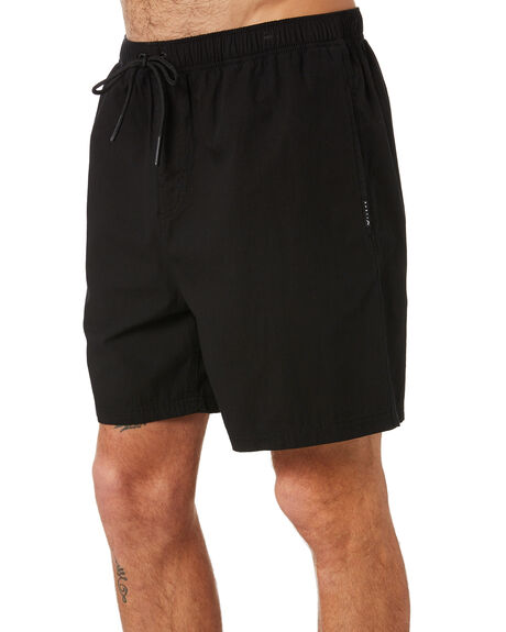BLACK MENS CLOTHING RUSTY SHORTS - WKM1001BLK