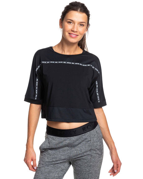 TRUE BLACK WOMENS CLOTHING ROXY ACTIVEWEAR - ERJKT03579-KVJ0