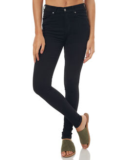 BLACK WOMENS CLOTHING DR DENIM JEANS - 1510111-101BLK1
