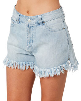 BLUE WASH OUTLET WOMENS SWELL SHORTS - S8201200BLWSH