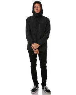 BLACK MENS CLOTHING VOLCOM JACKETS - A1511810BLK