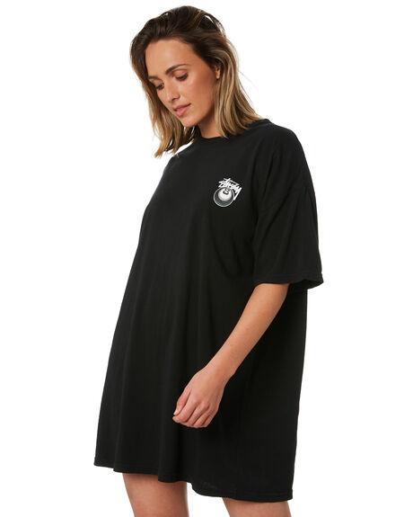 BLACK OUTLET WOMENS STUSSY DRESSES - ST102008BLK