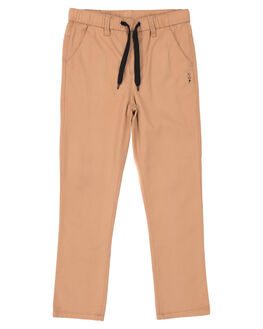 TAN KIDS BOYS ALPHABET SOUP PANTS - AS-KPA8265TAN