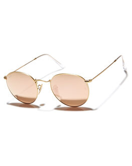MATTE GOLD BROWN MENS ACCESSORIES RAY-BAN SUNGLASSES - 0RB344750112Z2