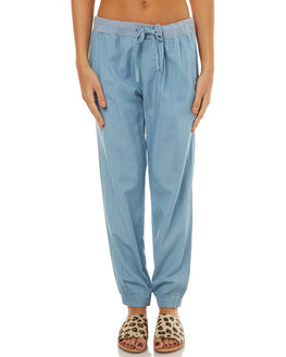 SKY BLUE WOMENS CLOTHING RUSTY PANTS - PAL0897SYB