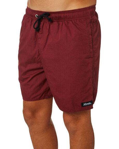 OXBLOOD MENS CLOTHING AFENDS BOARDSHORTS - M183359OXB